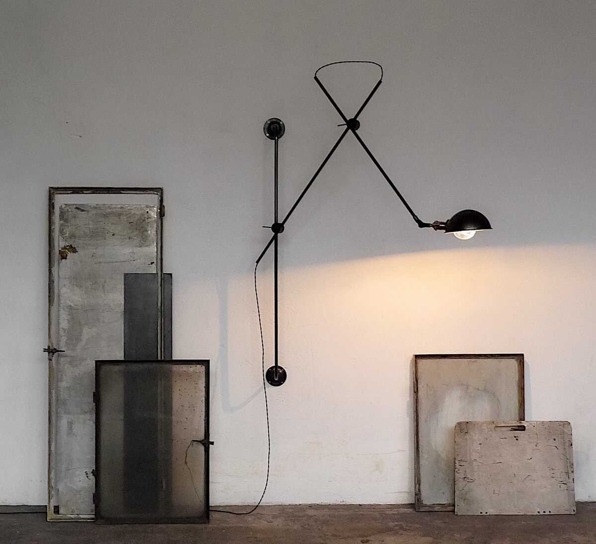 sconce industrial style Gras wall lamp
