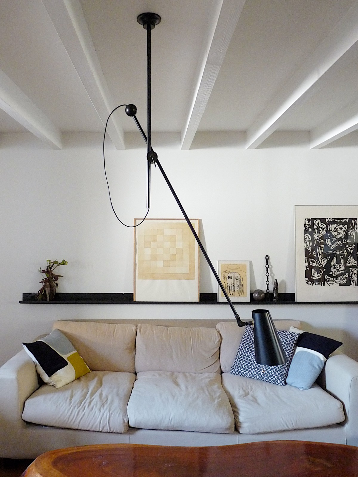 adjustable one-arm custom length lighting installation