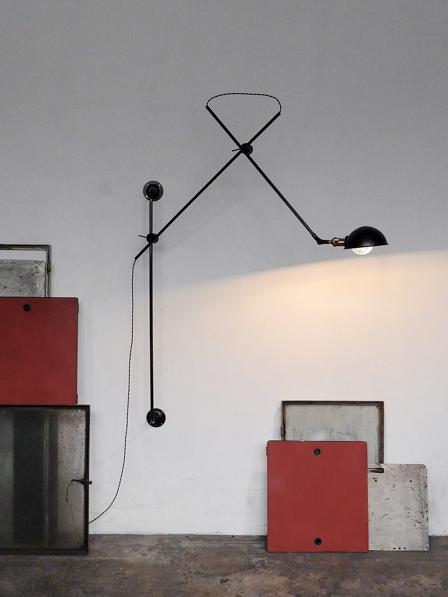 adjustable 2-arm wall lamp atelier Gras