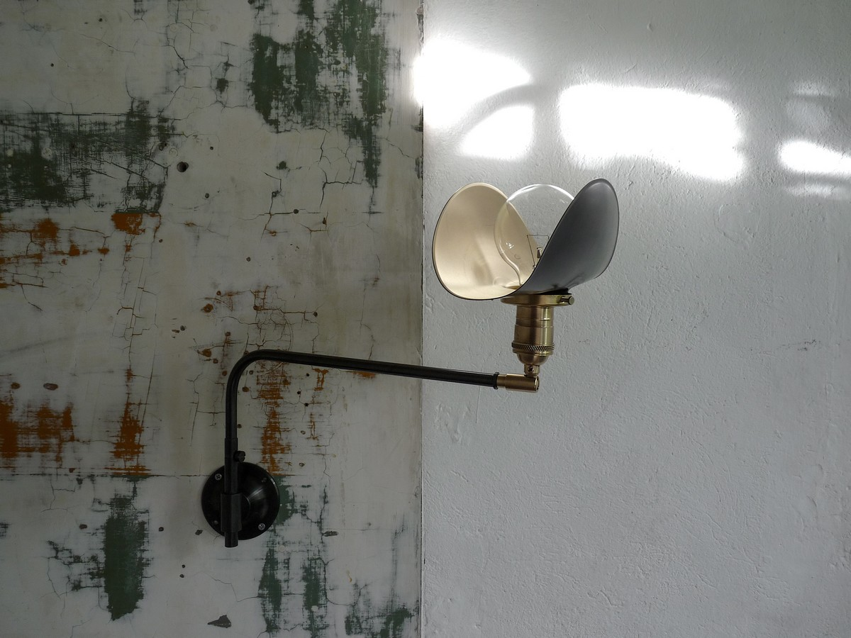 swing arm wall lamp French design