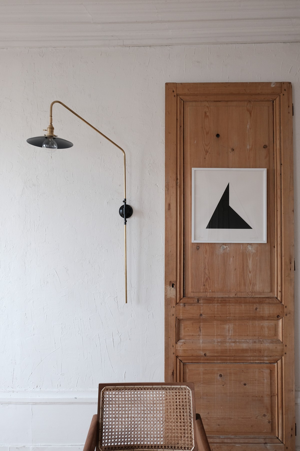 swing French design brass wall lamp