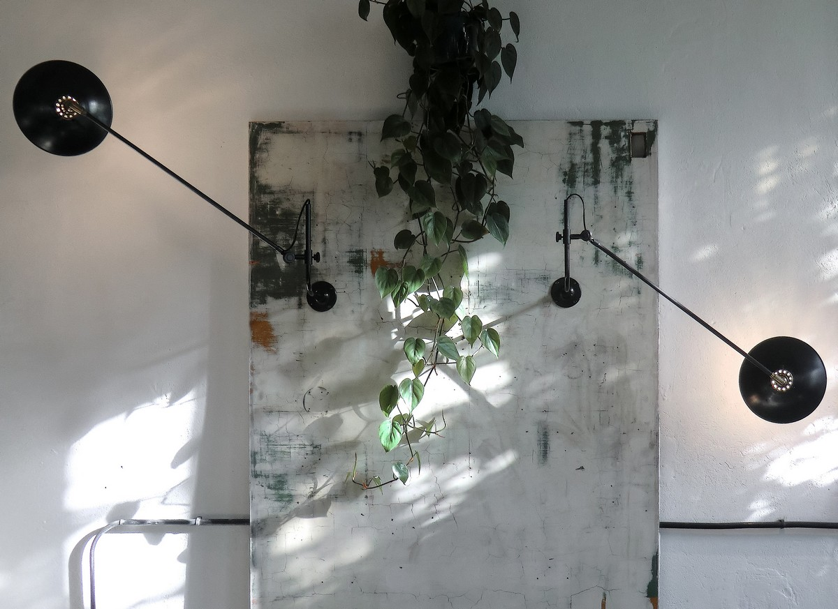French industrial style wall mounted lamp Paris