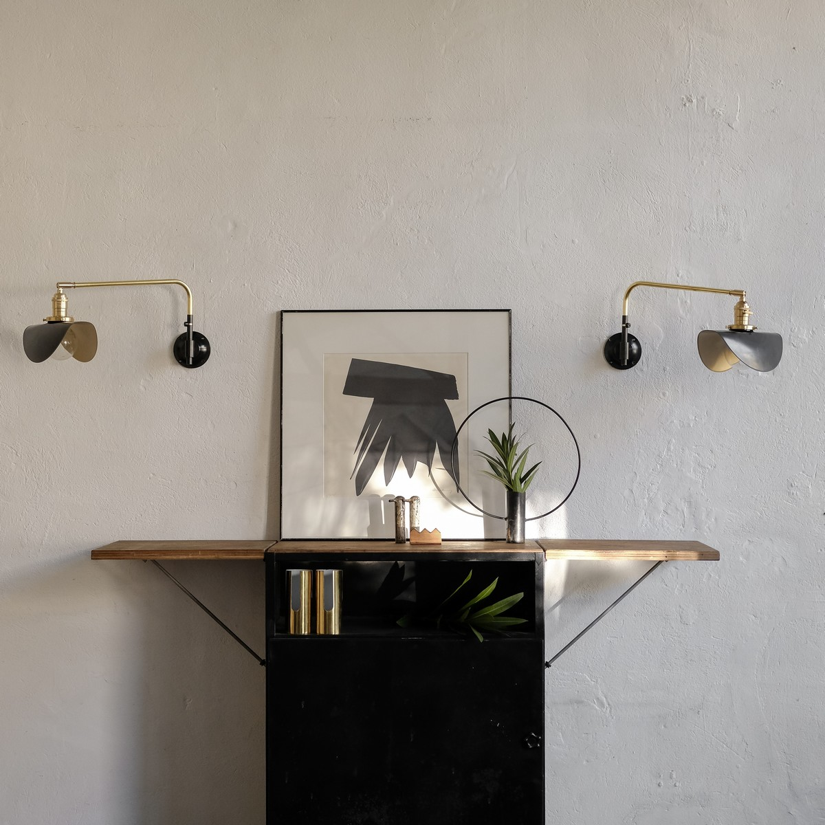 French Swing Out Wall Sconce Light