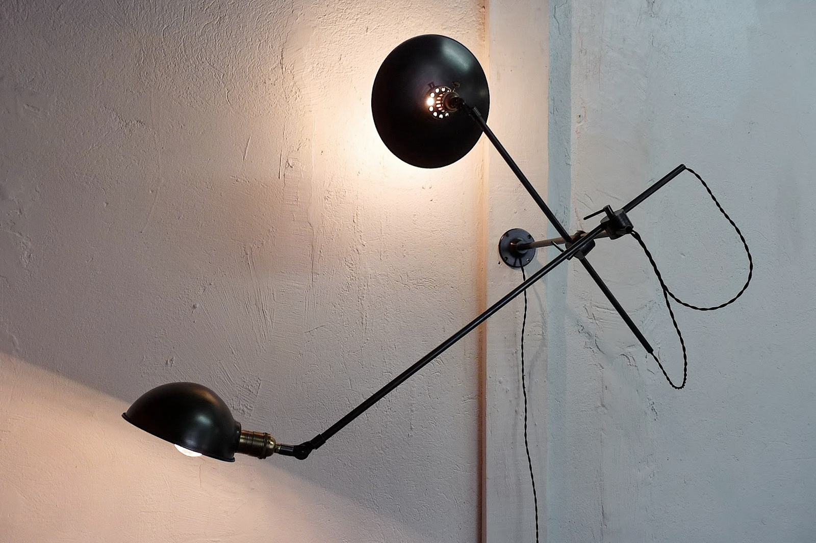 Double industrial light wall lamp French